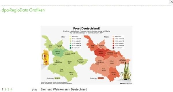 Ergebnisse von CAR-Recherchen der RegioData-Redaktion der dpa. / Screenshot dpa.de