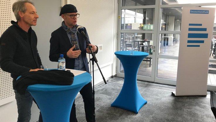 Dr. M. Bertolaso (DLF) und Prof. H. Haarkötter bei der diesjährigen PK(INA)(Foto: St. Koldehoff)