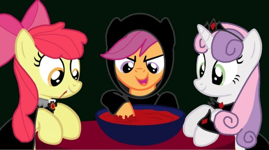 CMC Happy Nightmare Night! by RinnyThePony