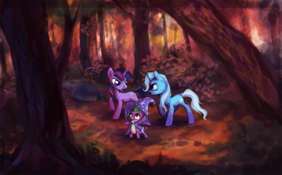 lost in the forest by Nayshi-Erol
