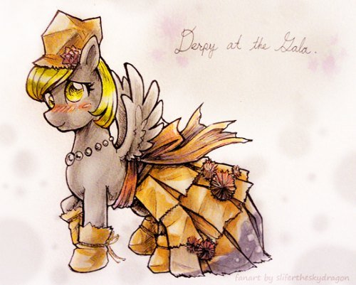 Derpy at the Galaby =slifertheskydragon