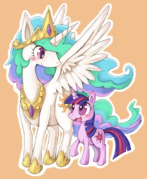 TWILIGHT AND CELESTIA by Moriguru