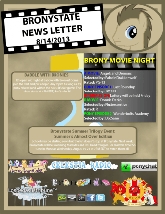 BronyState Newsletter 8/14/2013