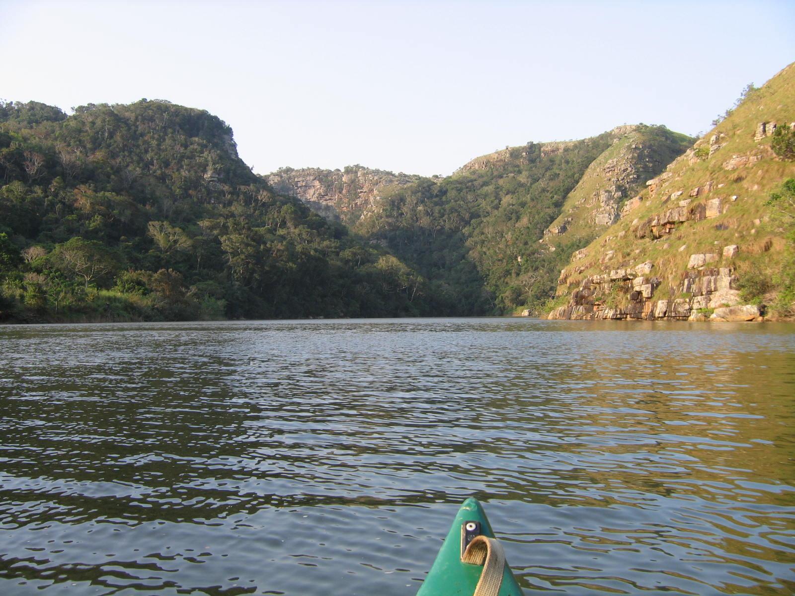 retour de la cascade en canoë, wild coast