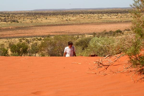 Dune sur la route des Ayer Rocks