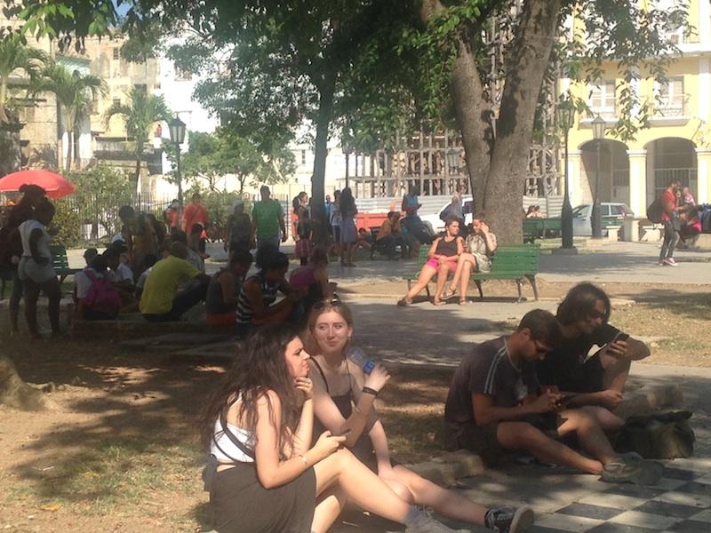 Zone WiFi à la Havane