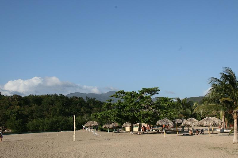Vue de la plage de la Boca