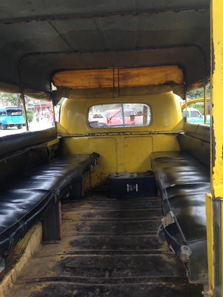 Intéreur du taxi