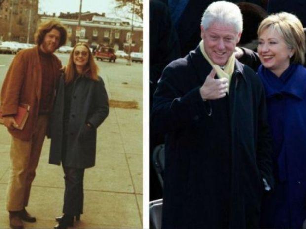 Bill y Hillary Clinton, ex presidente de EEUU con su esposa