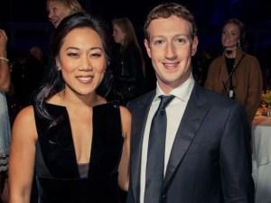 Mark Zuckerberg y su esposa
