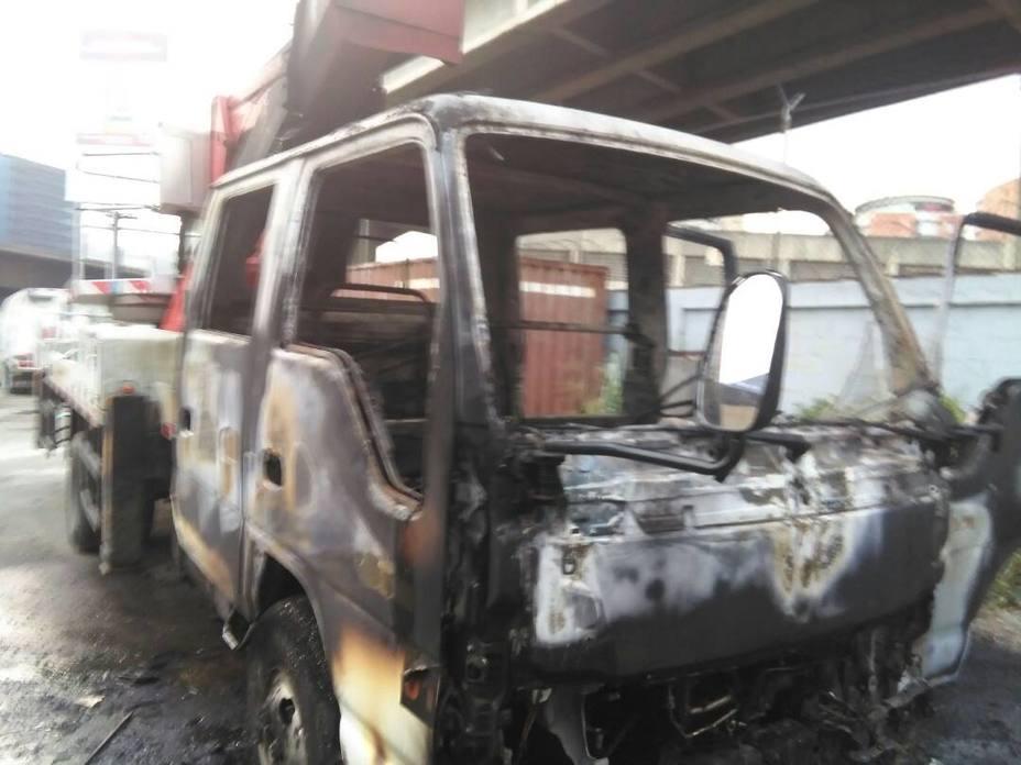 camion quemado mppptt quemado