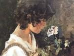 niña italiana con flores Joaquím Sorolla