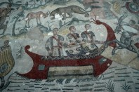 Mosaico en la Villa Romana del Casale
