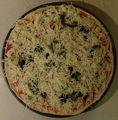 Pizza antes del horno