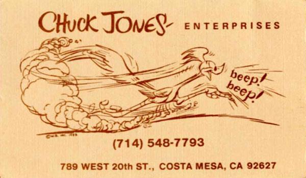 Chuck Jones cartão Imperdível 20 Cartões de visita de pessoas famosas