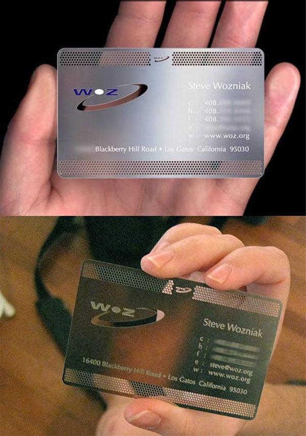 Steve Wozniak Cartões Imperdível 20 Cartões de visita de pessoas famosas