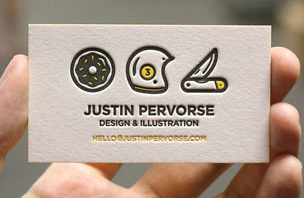 Letterpress business card design 2014 30+ Beautiful Examples of Modern Business Card Designs for Inspiration