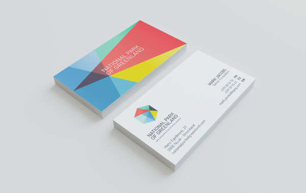 Polygon business card 30+ Beautiful Examples of Modern Business Card Designs for Inspiration