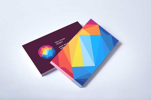 Sunset mountain pictures Colorful Business Card design example 30+ Beautiful Examples of Modern Business Card Designs for Inspiration