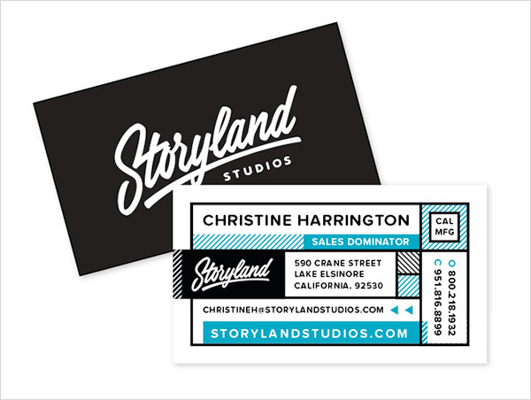 storyland studio business card design 30+ Beautiful Examples of Modern Business Card Designs for Inspiration