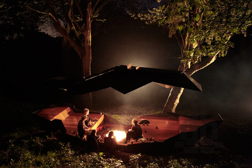 Paul Segers' 'Stealth Pavilion 2013' Mimics F-117 Nighthawk