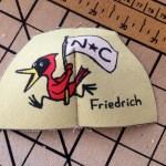 """""""NC Birds"""" shoe heel piece"""
