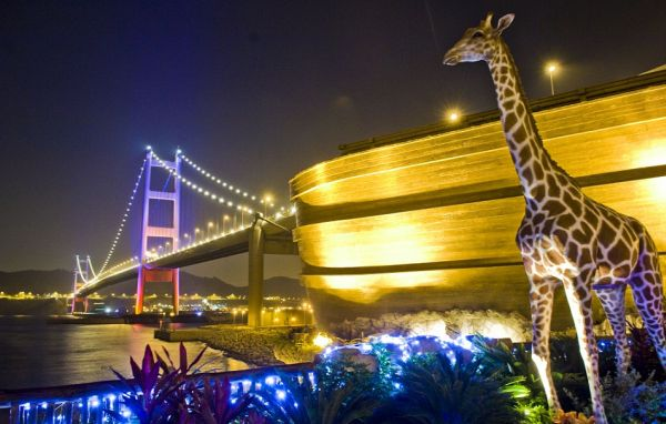 450ft long life-size replica of Noah's Ark