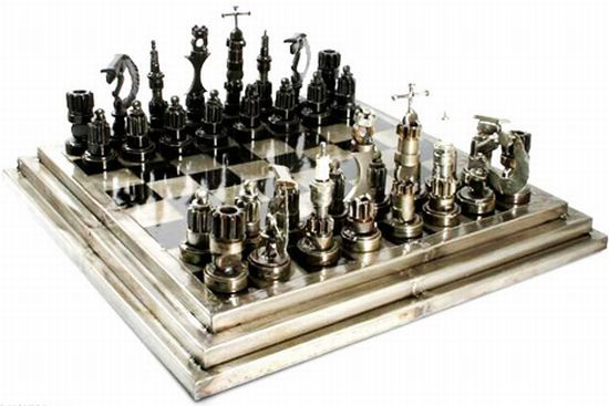 auto part chess set