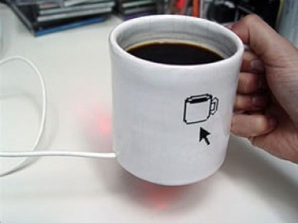 Coffee Mug Computer Mouse
