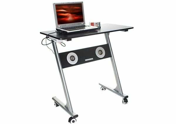 Compact Computer Desk with Speakers