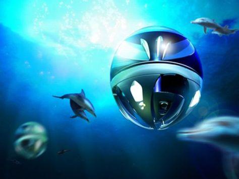 futuristic submarine by taizo doi