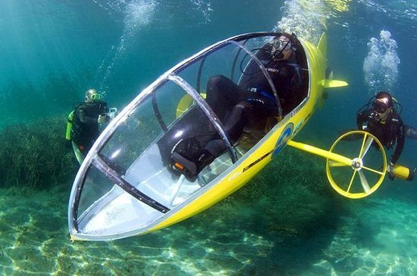 Human powered submarine