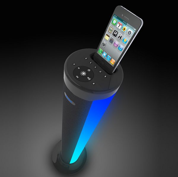 iHOME iP76 LED Color Changing Speaker Tower