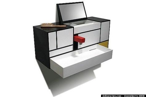 piet mondrian inspired bathroom cabinet1