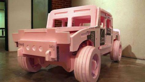 Pink Styrofoam Hummer