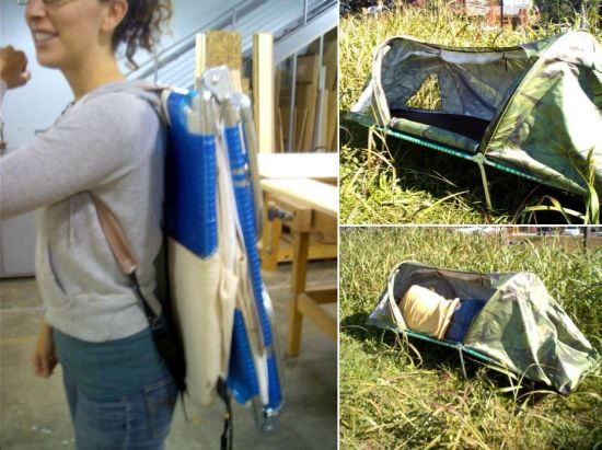 Portable Collapsing Shelter : Portable shelter provides refuge to the homeless designbuzz