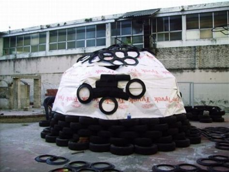 Recycled tires home