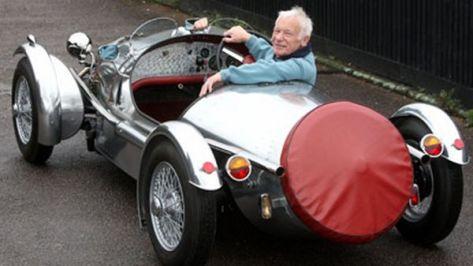 Silver Pembleton Brooklands sports car