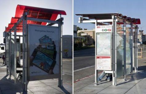 solar powered bus shelter 5