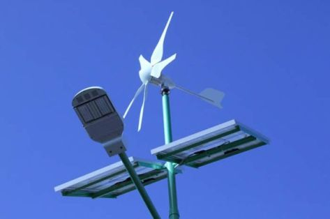 Solar and Wind Turbine LED Lamps in Poland