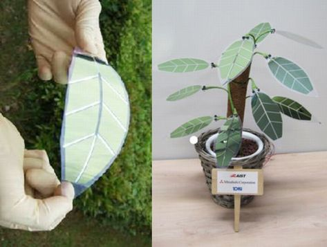 Solar Powered Artificial Plant