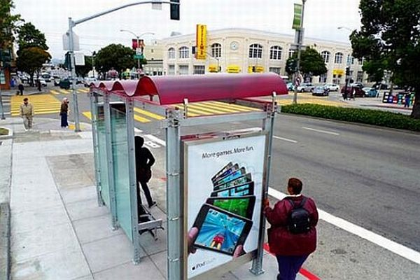 Solar-powered bus stops in San Francisco