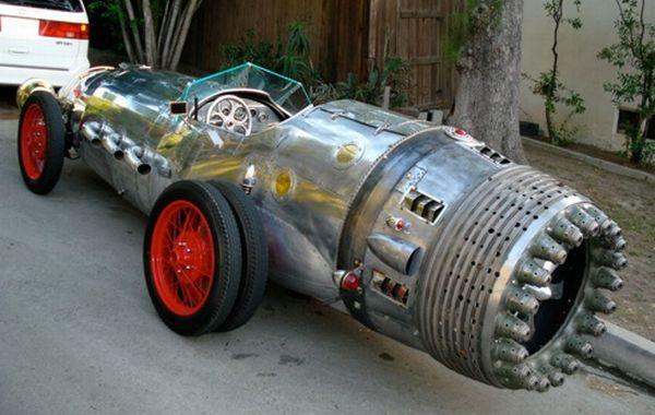 Steampunk Rocket Car