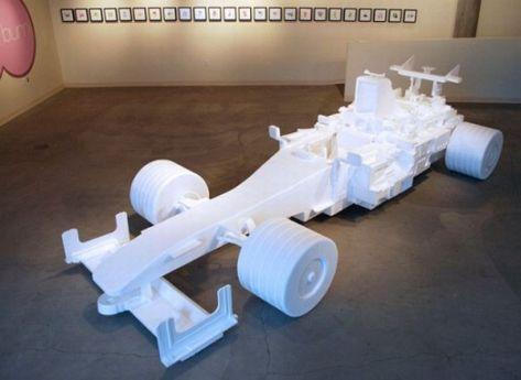 Styrofoam F1 racecar