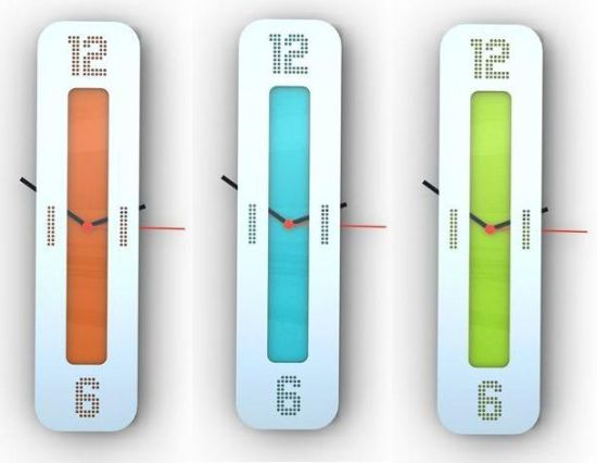 vertical wallclock