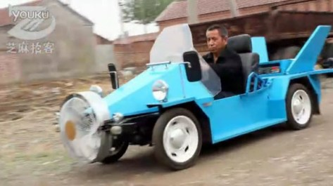 Wind-Powered  Electric Car