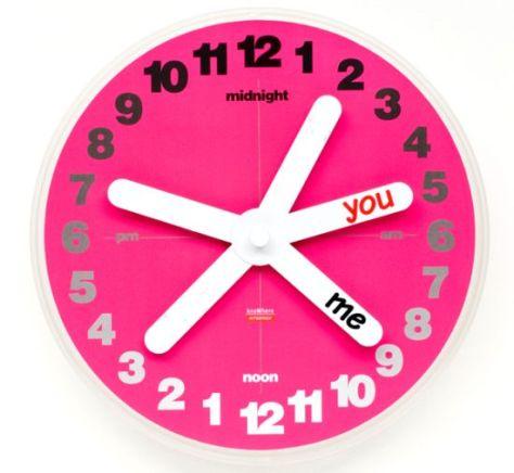 you me wall clock