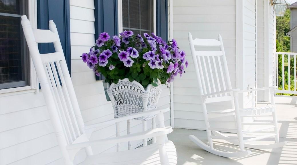 Suburban front porch