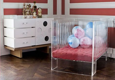 Clear Baby Cot