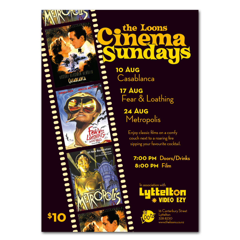 Cinema Sundays poster